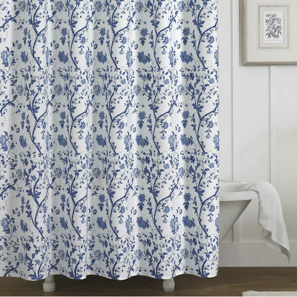 Charlotte 100% Cotton Shower Curtain by Laura Ashley Home